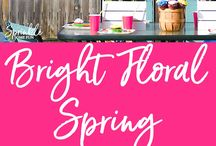 Bright Floral Spring Birthday Party