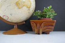 Planters and Succulent Containers / Vintage pottery planters and flower pots by McCoy, Hull, and other brands. Great for succulents, herbs, and small indoor plants.