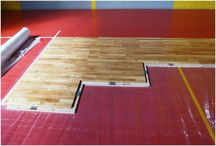 Portable Sports Floors / Portable sports floors are suitable for large indoor gyms, sports halls, and sports arenas.  Being easily removable, they are ideal for use as sports floors in plazas during sports manifestations, concerts, fairs, or other temporary events that require sturdy wooden flooring. The portable sports floor is the ideal solution for facilities where the practice of sports alternates frequently with non-sporting events.
