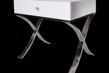Modern Classic White Glass & Chrome Legs Barcelona Bedside/Side Table