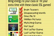 Teaching games for ESL