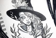Идеи для рисунков Эскиз Halloween