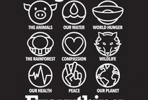 V E G A N: Compassion & Nonviolence / For yourself • the people • the planet • the animals