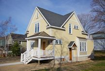 Downtown Grand Haven Home Renovation / Pushaw Builders helped these Grand Haven homeowners renovate their home - complete with a wrap around deck and a balcony.