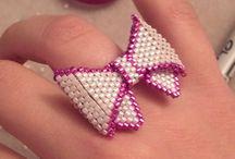 koraliki pierścionki
