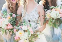 Wedding Flower Crowns / Inspiration for Bohemian Brides and Bridesmaids  For custom designs contact - https://www.facebook.com/SunkissedHandmade/