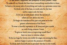 Philosophy / My philosophy of life ...
