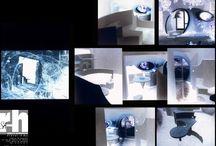 Studio BULLE,REBOULIN à SALON DE PROVENCE 1985 / Une bulle accrochée à la façade d'un mas PROVENÇAL ou même les étagères sont en voile de béton.. Conception et réalisation HERVE REBOULIN architecte en collaboration avec PIERRE RAFFAILLAC, en 1985, publié dans HOME ET HABITAT N°1 (épuisé). ANTTI LOVAG était venu la visiter la veille de la mise en location.
