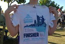 Half Marathon / my first half marathon. gold coast. 6th July 2014. 2:21