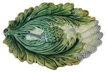 Majolica Artichoke & Asparagus