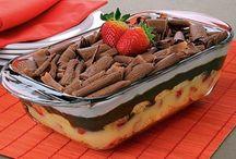 pave de morango e chocolate