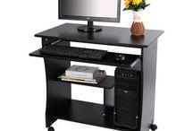 Modern Black Desk Furniture Office Computer Table Stand Study Workstation Home