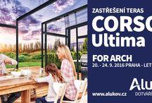 Podzimní kampaň / Ukázky motivů naší podzimní reklamní akce, která promuje nové terasové zastřešení CORSO ULTIMA a zároveň zve na veletrh For Arch do Letňan.