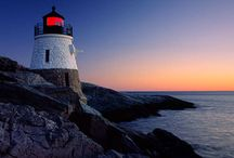 LIGHTHOUSES / LIKE A GUARDIAN ANGEL, THE LIGHTHOUSE STANDS, SENDING OUT HOPE IN THE NIGHT. LIKE A FAITHFUL FRIEND REACHING OUT A HAND BRINGING COMFORT, TRUTH AND LIGHT / by Myrtle Philbeck