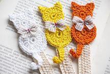 Marcador Livro crochet