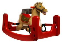 """Grow-with-Me Ponies / Rockin' Rider Grow-with-Me Ponies start out as a bouncer for 9-month-olds, turn into a rocking pony, and then easily convert without tools into a spring horse for 24-month-olds.  They also feature the """"I'm a Little Pony"""" song and motion-activated galloping."""