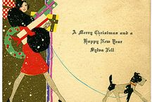 Art Deco Xmas Cards