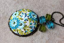 Polymer Clay Applique Jewelry