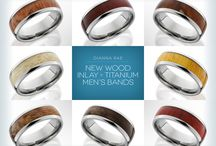 Custom Men's Wedding Bands / Your wedding band possibilities are endless with unique materials, custom options and fresh new looks.
