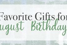 Gifts for August Birthdays