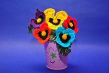Szydełkowe kwiaty, bukiety / Kwiaty i wszystko związane z kwiatami