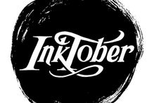 "INKtober / ""Every October, artists all over the world take on the InkTober drawing challenge by doing one ink drawing a day the entire month.""  http://mrjakeparker.com/inktober"