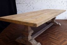 Table chêne Relookée
