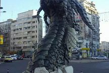 Here Be Dragons!!!! / Dragons in real life locations. Architecture, gardens and other unexpected places.