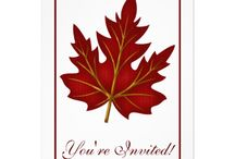 Invitations : Fall Dinner Party / here are some fall season dinner party invitations and thanksgiving dinner invitations ...