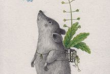 MICE & RODENTS / Illustrations, art, ceramics, sculptures, etc of mice, rats and rodents, particularly for children.