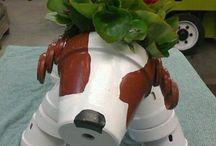 clay pot  animials
