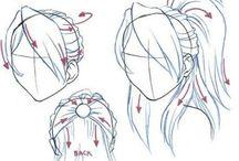 Menggambar rambut