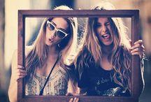 sisters fun posing