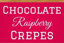 crepes, pancakes, waffles, puddings...