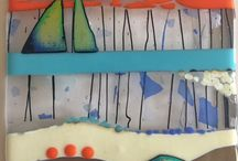 Gina Lelliott / I am currently using fused glass to create wall-based pieces. In some of the pieces I use vibrant colour combinations whilst others demonstrate a more subdued and subtle colour palette.
