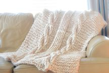 knitfed cable blanket