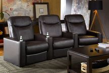 Curved Rows / This board collects the home theater seats that come in curved row configurations.  #hometheater #hometheaterseating #hometheaterseats