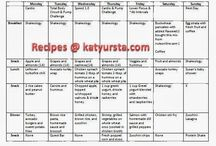 Weekly Clean Eating Meal plans and Recipes / www.katyursta.com