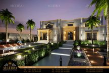 Luxury Lansdcape / There is nothing more peaceful then sitting outside on a dark night with the surrounding landscape lit up by the soft glow of simple but beautiful light  Algedra Interior Design 800ALGEDRA 8002543372 www.algedra.ae
