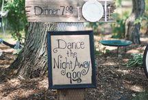 Letreros de la boda