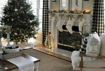 Christmas fireplace's mantels