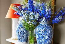 Chinoiserie in blue blue