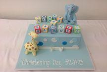 Christening cakes boys