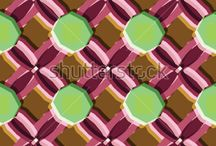 Bass-relief vector pattern