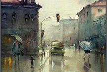 Susan djucarich città sotto pioggia