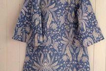 dress batik lengan bsr