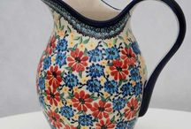 Antique  Glassware and  Polish pottery, it takes your breath away. / Antique Bohemian Art Glass, Antique Glassware,