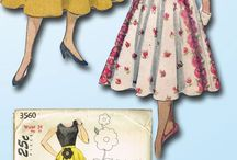 1950s applique skirts
