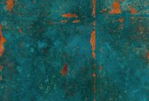 Patinas-Loving and Creating Them / Recreating the amazing colors that occur with age.