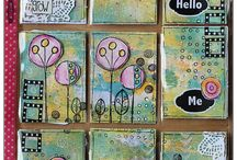 Tiny Space Place - Small Tiny Mini Artwork & Crafts / ATCs, Pick Up Cards, ACEOs, Inchies, Art Tags, Twinchies, Match Boxes, Rinchies, Game Tile Jewelry, Paper Clip Bookmarks, tiny wall art, other euphoric small space work.